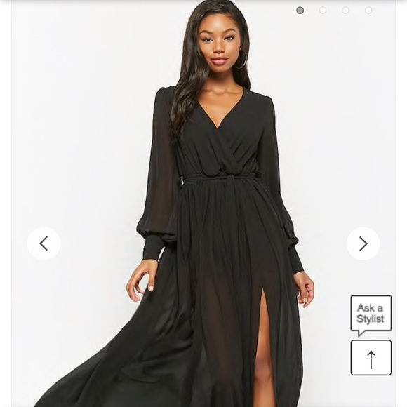 551893fbff7 Forever 21 black chiffon maxi dress